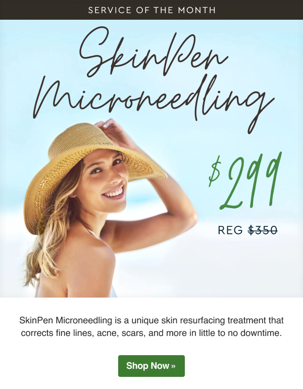 SkinPen Microneedling now $299. SkinPen Microneedling is a unique skin resurfacing treatment that corrects fine lines, acne, scars, and more in little to no downtime.